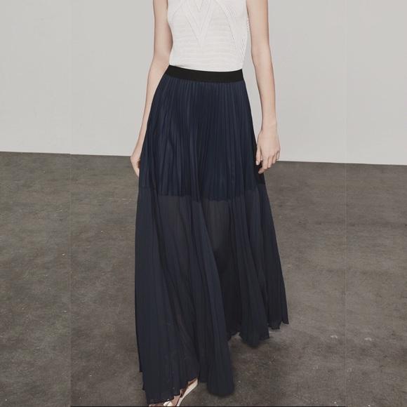 BCBGMaxAzria Dresses & Skirts - BCBGMAXAZRIA Tisa Black Sheer Maxi Skirt